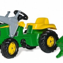 John Deere with Loader & Trailer